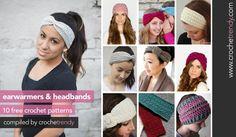 10 Free Ear Warmer & Headband Crochet Patterns   Roundup by Crochetrendy.com