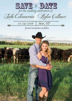 This is a darling western save the date