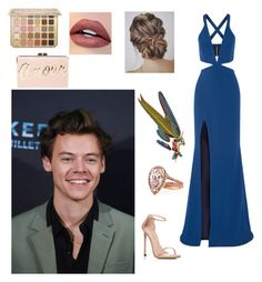 """Dunkırk premier with harry"" by idil-gundogdu on Polyvore featuring moda, Michelle Mason, Anabela Chan, Stuart Weitzman ve BCBGMAXAZRIA"