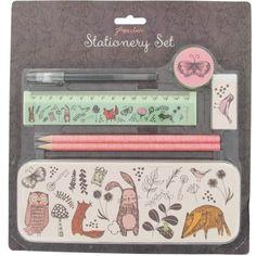 Woodland stationery set