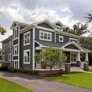 Grizzle Gray Exterior Design Ideas, Pictures, Remodel and Decor