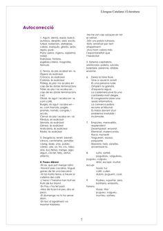 Llengua Catalana i Literatura     Autocorrecció                                                 -No he vist cap saüquer en...