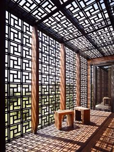 Modern Chinese Geometric Patterned Walls