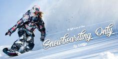 Snowboarding Only Font | dafont.com
