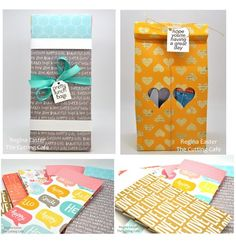 PRETTY LUNCH BAGS - PAPER BAG TEMPLATE