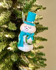 Christmas Ornaments, Christmas Tree Ornaments, Beach Ornaments, Snowman Ornament, Shell Ornament, Unique Ornament, Blue Beach Ornaments by Ancientvibrationshop on Etsy Beach Christmas Ornaments, Christmas Home, Christmas Decorations, Holiday Decor, Shell Ornaments, Snowman Ornaments, Handmade Shop, Handmade Gifts, Gift Wrapping