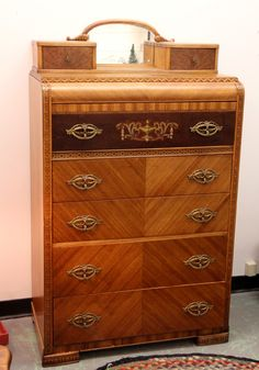 Art Deco Waterfall Dresser (SOLD)
