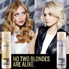 No two blondes are alike! Get customizable care with new Blonde Idol custom-tone treatments for warm blondes or cool #blondes.