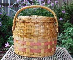 Lidded Woven Basket made in Mexico by FondestMemories on Etsy