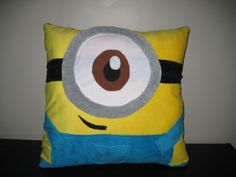 Despicable Me Minion Pillow by Lestette on Etsy, $30.00