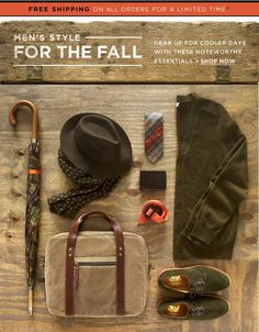Men's Fall Essentials -- for more accessories, visit board http://www.pinterest.com/davidos193/essentials-mens-accessories/