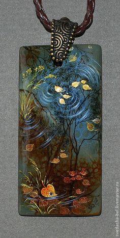 Кулоны, подвески ручной работы. Ярмарка Мастеров - ручная работа Осенний Блюз. Handmade.