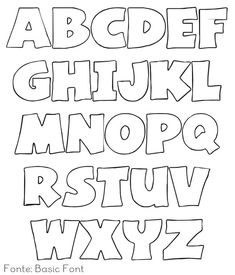 Printable Alphabet Bubble Letter Outlines   Pinteres