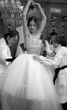 Fashion Behind the Scenes - couture in the making; fashion atelier // Dolce & Gabbana
