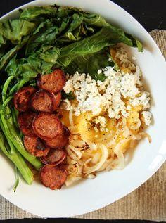 Broccoli Rabe, Sausage & Goat Cheese Polenta Bowl I 24 Carrot Life