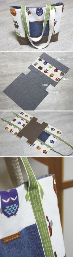Diy Sewing Projects Easy Canvas Tote Bag with Pocket. Step by step DIY Tutorial Sewing Hacks, Sewing Tutorials, Sewing Crafts, Sewing Projects, Sewing Tips, Diy Projects, Tote Bag Tutorials, Sewing Basics, Fabric Crafts