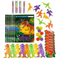 Check out Dinosaur Party Favor Pack - Bargain Party Decorations and Supplies…