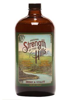 Apple Cider Vinegar Tonic Strength of the Hills Super-Premium Day Elixir 34 oz #StrengthoftheHills