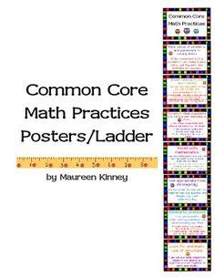 COMMON CORE MATH PRACTICES LADDER OR POSTERS - TeachersPayTeachers.com