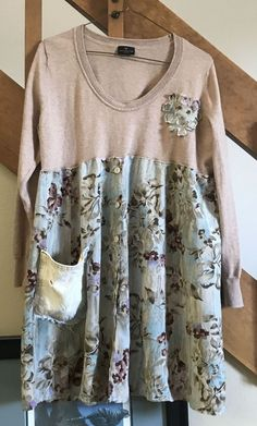 Up cycled clothing easy to wear comfy dress