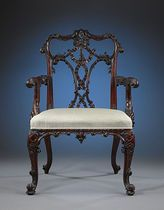 """Thomas Chippendale was the first cabinetmaker to boast such a strong following that an entire style bears his name and not that of a monarch. In 1754, Chippendale published The Gentleman and Cabinetmaker's Director, considered to be the """"bible"""" of furniture design of its day. The designs he documented within the text would become so influential, that they dominated the furniture styles of the 18th century."""
