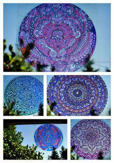 GROOVY Mandala Window Decal  Tribal Inspired by EyePopArt on Etsy