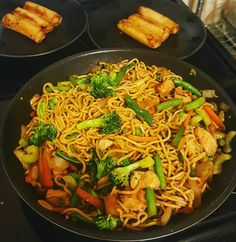 [Homemade] Chicken veggies and Yakisoba noodles! #food #foodporn #recipe #cooking #recipes #foodie #healthy #cook #health #yummy #delicious