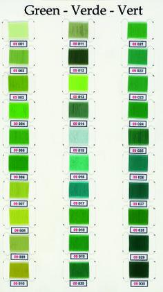 Nuances de Vert chez jetiquette.fr