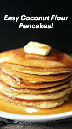 Coconut Flour Pancakes, Low Carb Pancakes, Gluten Free Pancakes, Low Carb Breakfast, Sugar Free Pancakes, Ricotta Pancakes, Gluten Free Recipes For Breakfast, Fluffy Pancakes, Breakfast Pancakes