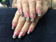 Gramma's nails.  Gel nail art.