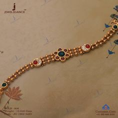 Give your navratri a treasure of gold. Get in touch with us on - Womentrends Real Gold Jewelry, Gold Jewelry Simple, Hand Jewelry, Women Jewelry, Indian Jewelry, Gold Chain Design, Gold Jewellery Design, Diamond Jewellery, Antique Bracelets