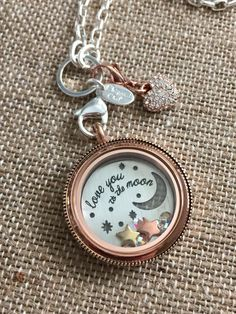 NEW!  'Love you to the moon and back' plate!  I am so excited for this!! #OrigamiOwl