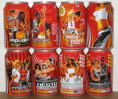 2003 Netherlands coca cola DANCE 8 cans set 330ml