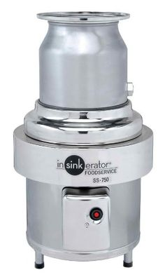 Insinkerator SS-750-15 Commercial Garbage Disposer 7 1/2 hp 208-230/460V Disposer only. Fully enclosed motor with built-in thermal overload protection. Short body model is 20 high vs. 23 1/2 for standard. 208-230/460V, 3 Phase, 9.7/12.4/6.2 amp, UL Listed.  #InSinkErator #HomeImprovement