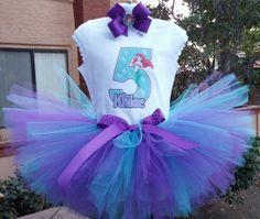 The Little Mermaid princess Ariel tutu set 3 by MommiesKreationz, $13.75