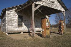 Old gas station, flickr