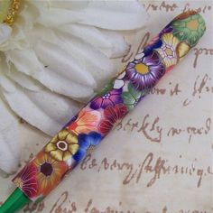 Susan Bates Polymer Clay Covered Crochet Hook by polymerclayshed, $7.50