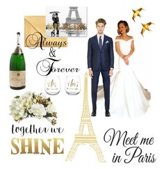 """Paris Wedding Goals"" by its-imani-tho ❤ liked on Polyvore featuring Wall Pops!, Ermenegildo Zegna and Sixtrees"