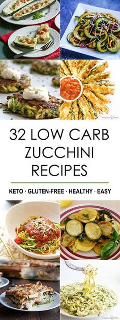32 Low Carb Zucchini Recipes (Gluten-free Roundup) - This collection of 32 gluten-free low carb zucchini recipes is all you need to make the most of zucchini season. Easy, healthy and delicious!