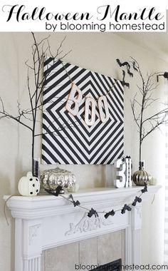 Halloween Mantle by Blooming Homestead