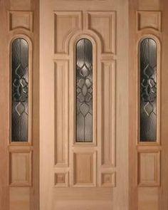 Presupuesto puertas entrada en nogal dos fijos y una hoja elegante - Puertas principales de madera ...