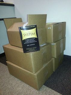 Eric Lofholm received a shipment of 200 of his brand new book The System!