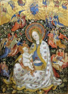 Madonna in a Garden, 1420-40, STEFANO DA VERONA (1379 circa – 1438 circa)     #TuscanyAgriturismoGiratola