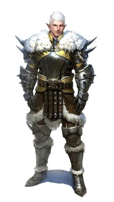 Male Half-Elf Artic Fighter or Barbarian - Pathfinder PFRPG DND D&D 3.5 5th ed d20 fantasy