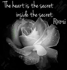 The heart is the secret inside the secret. Rumi Poem, Rumi Quotes, Words Quotes, Qoutes, Inspirational Quotes, Sayings, Scorpio Quotes, Spiritual Inspiration, Daily Inspiration