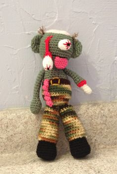 Zombie  Amigurumi  crochet toy  men  women  kids by meddywv, $32.00