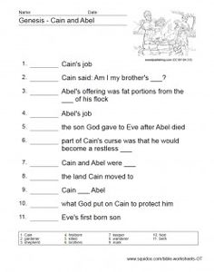 Bible Worksheets - Old Testament Bible Crafts For Kids, Bible Study For Kids, Bible Lessons For Kids, Kids Bible, Bible Games, Bible Activities, Bible Trivia, Church Activities, Cain Y Abel