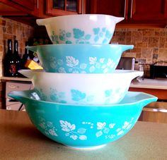 Turquoise Gooseberry Pyrex