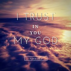 I trust in YOU my GOD-Psalm 25:5 #bible #trustintheLord