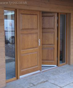 Double Front Entrance Doors with Fixed Side Lights.  Made to order